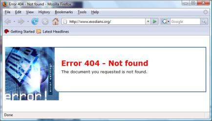 404 Error means ...