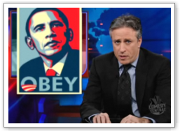 Screenshot courtesy: Daily Show - from the king of parody and satire