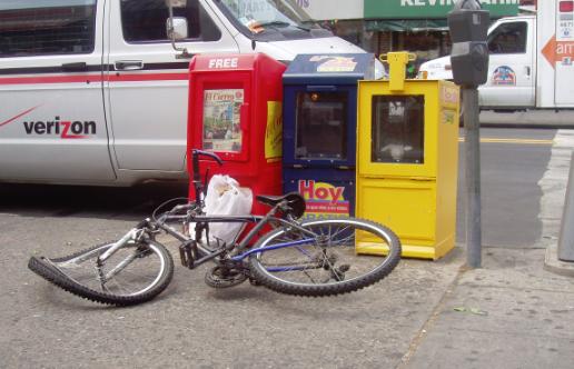 Bike thrown away