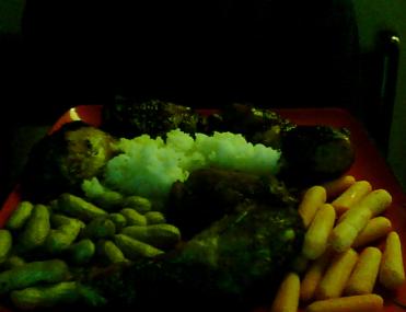 broiled-bird-flu-rice-veggies