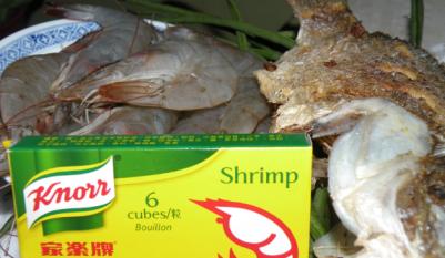 Gamit pangtempla knorr sabaw nga Shrimp