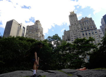 New York City Skyline, rock baby rock sa Central Park