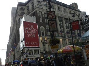 Macy's area? Since when did we use this way heading to New Jersey?