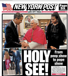 Source: New York Post - HOLY SEE! from peeps show to pope show
