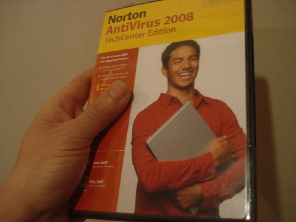 Norton AntiVirus 2008 TechCenterEdition that I bought with my out of the box HP Computer