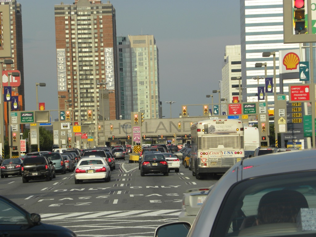 As we enter holland tunnel