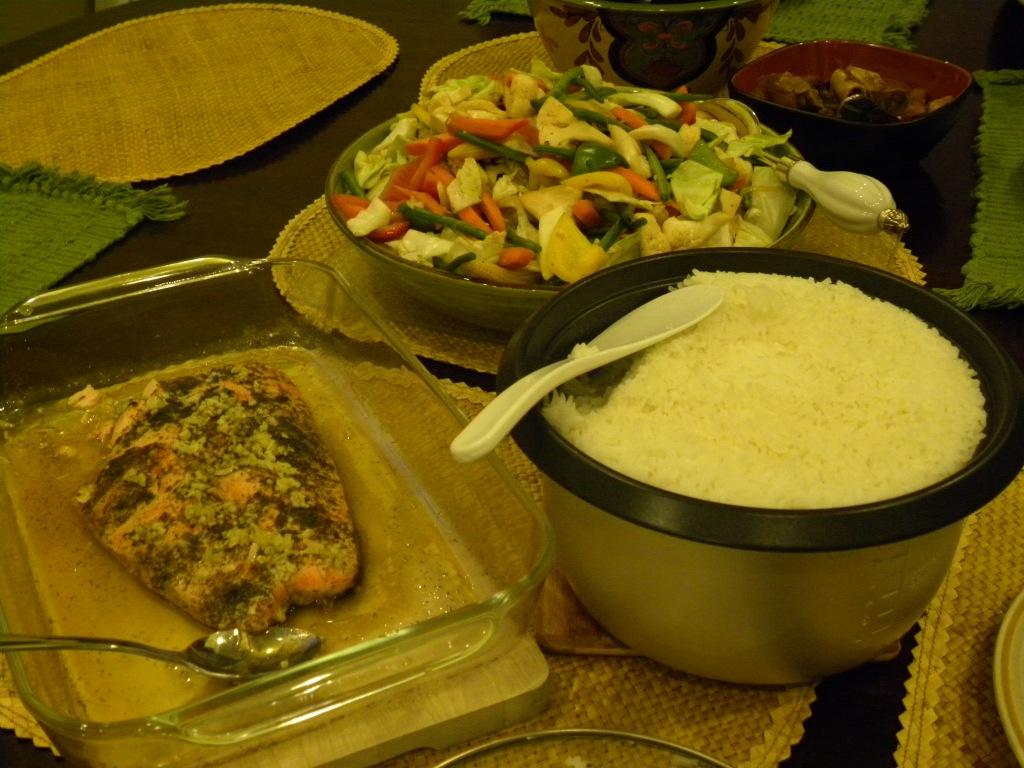 We had dinner.