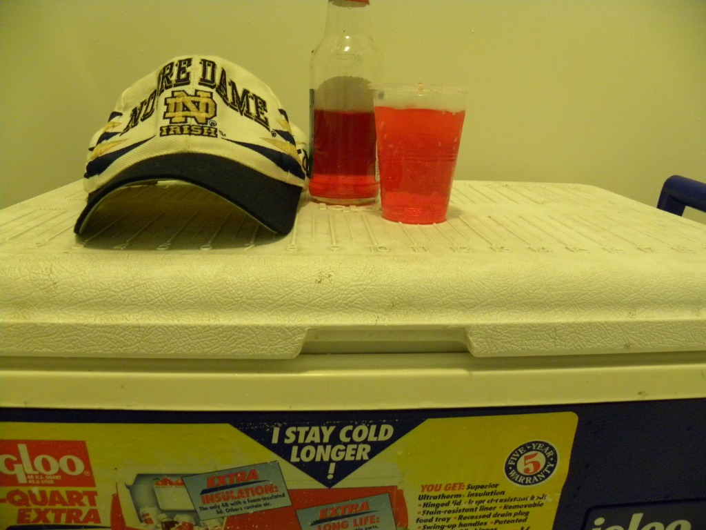 Cool hat on the cooler's top besides that!