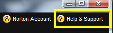 Norton Help and Support Button