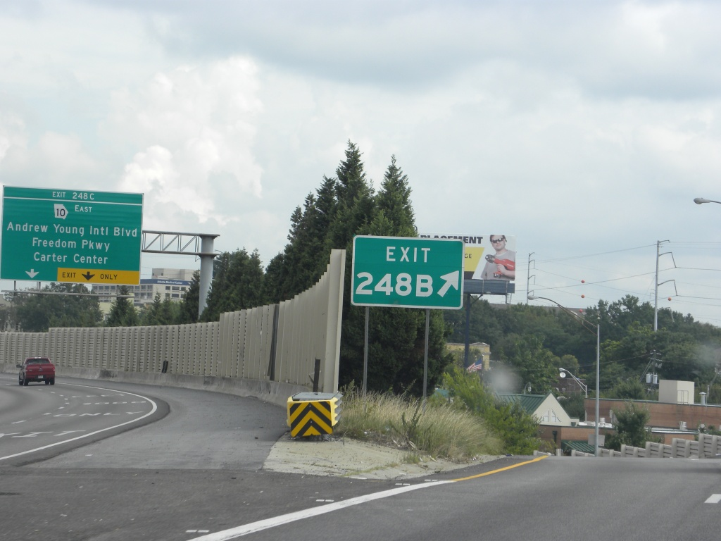 Our exit to the local road