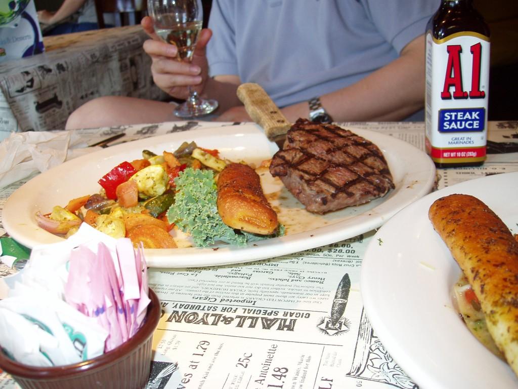 dinner: steak