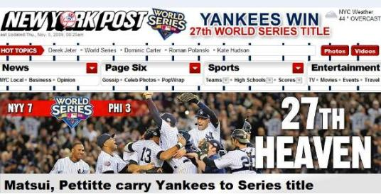New York Post Headline
